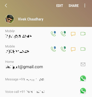 Send message to yourself on WhatsApp via address book