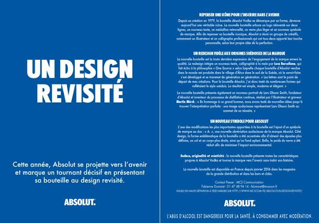 Spiritueux magazine absolut vodka un nouveau design - Comment calculer la temperature ...