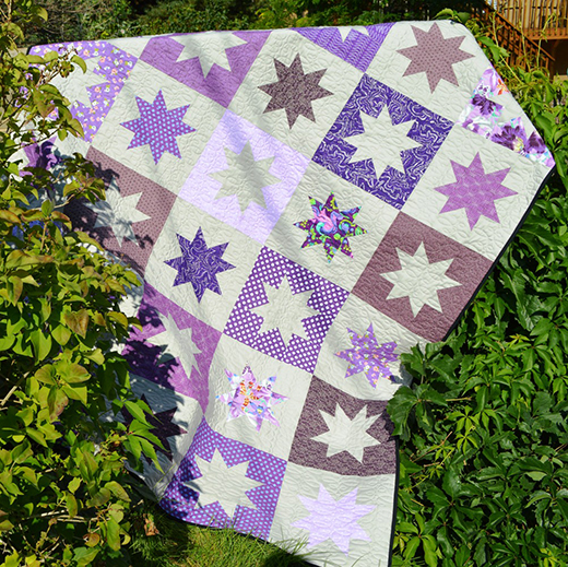 Sparkly Star Quilt Free Tutorial designed by Melissa Corry of Happy Quilting Melissa