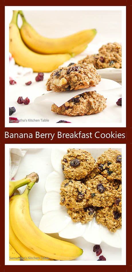 Banana Berry Breakfast Cookies