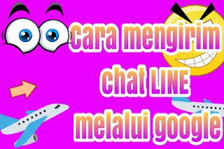 Cara mengirim pesan chat LINE melalui google Chrome