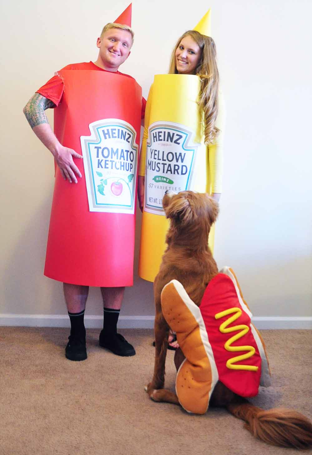 homemade hot dog halloween costume