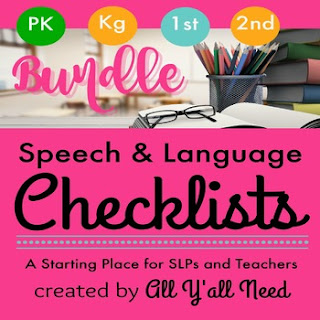 Best Year-End Picks for SLPs: Speech and Language Checklists