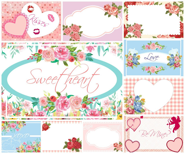 Free cute Valentines Day printable cards. MamasGoneCrafty.com
