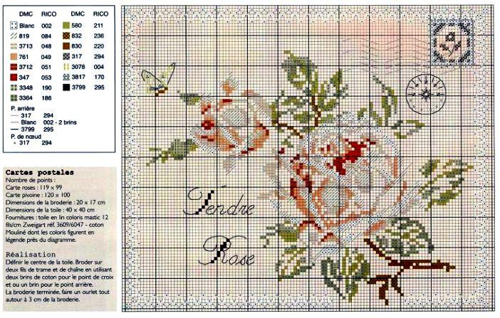 Схемы вышивки для конвертов