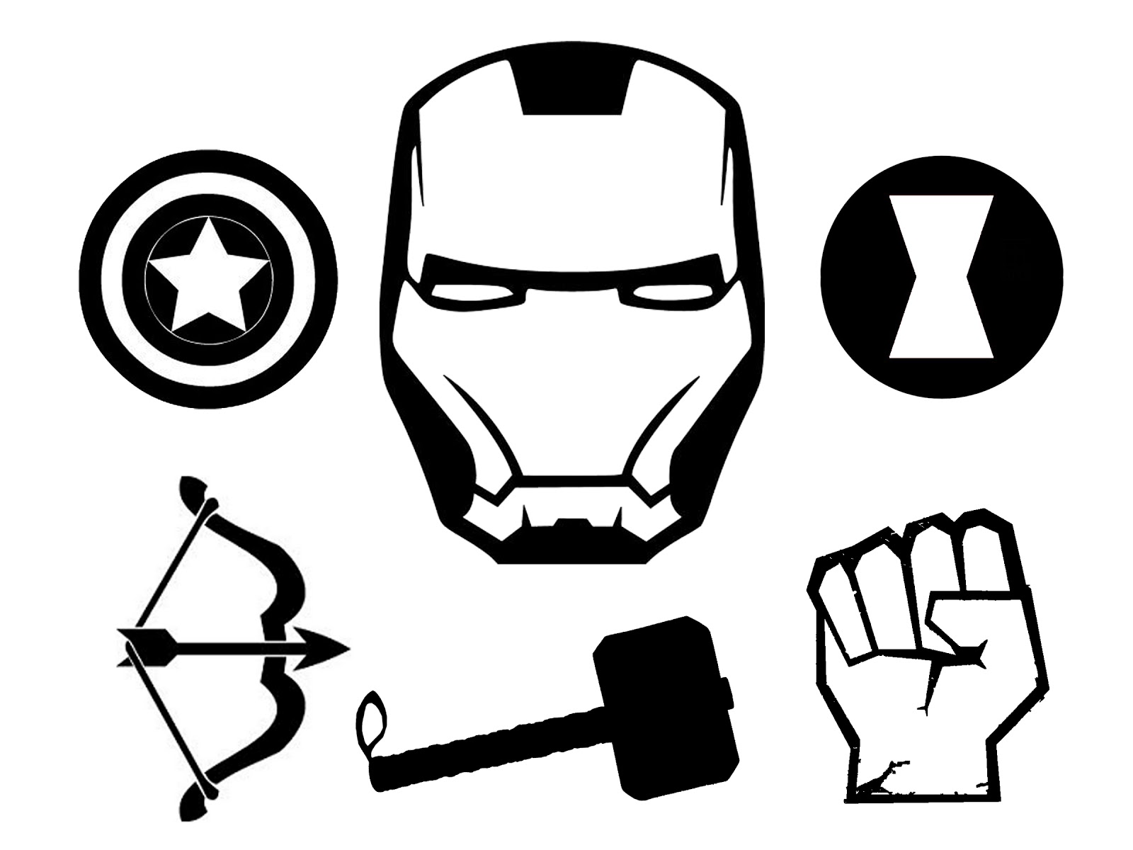 Doodlecraft The Avengers T Shirt And Stencil