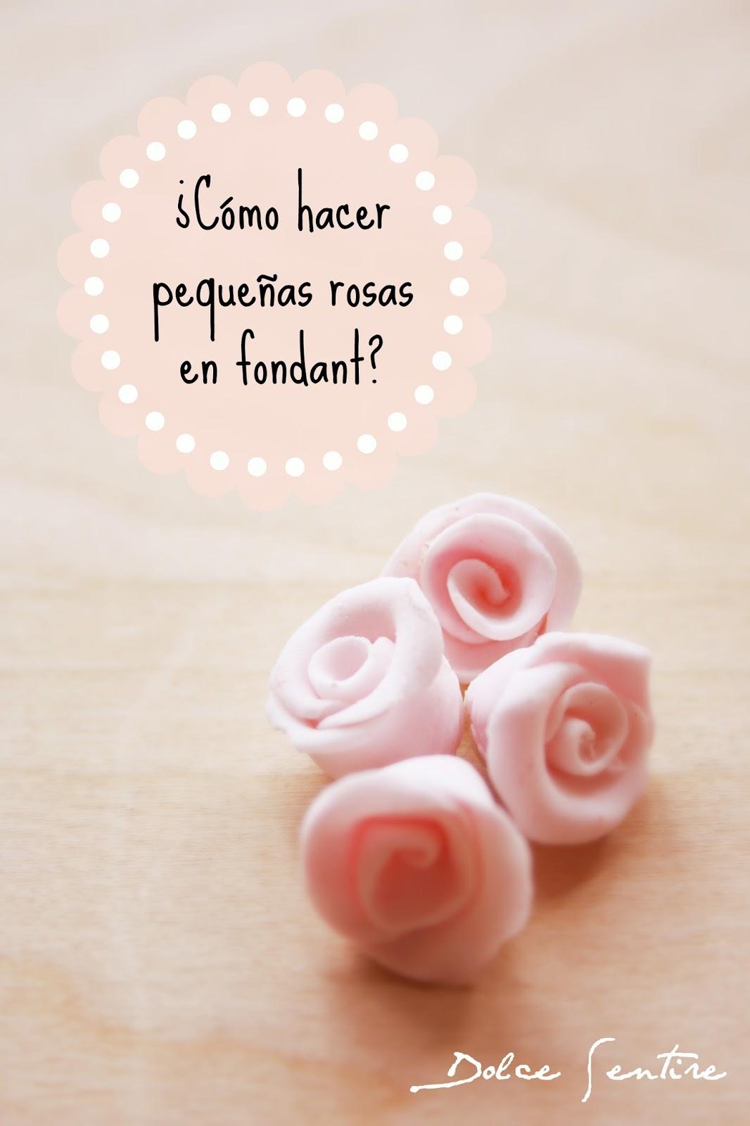 Cómo hacer pequeñas rosas con fondant {Video Tutorial}