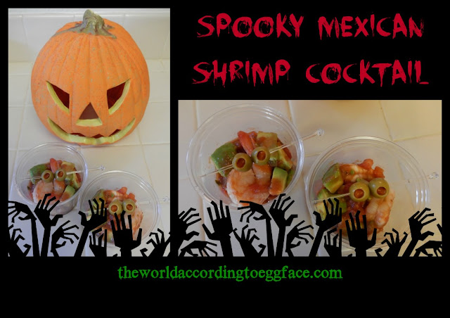 Happy Halloween Spooky Party Food Shrimp