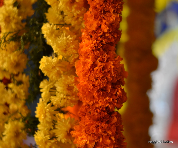 marigold garlands indian decoration
