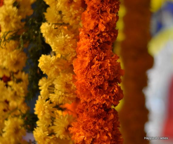 marigold garlands indian decoration