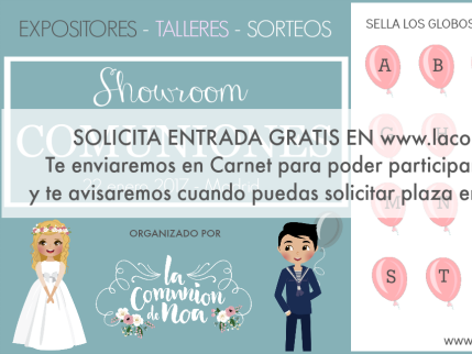 Solicita entrada gratis Showroom Tendencias Comuniones 2017