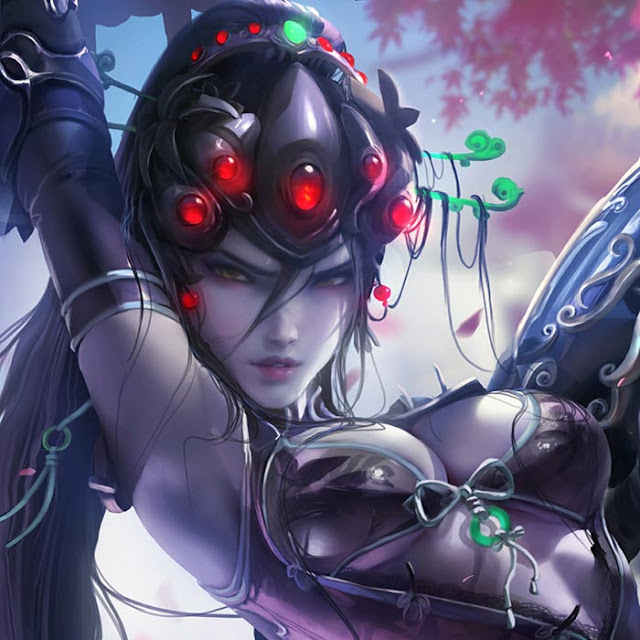 Sakimichan - Watcher Vanguard - Black Lily Wallpaper Engine