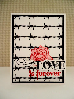 Visible Image New stamp Immortal Love Rose Wire