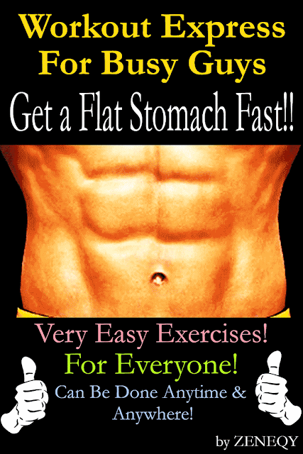 Workout Express For Busy Guys: Get Flat Stomach Fast!!