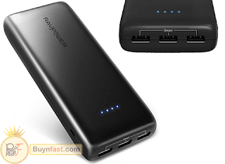 Excellent Portable Charger RAV Power with 22000mAh for Phones, Tablets and More