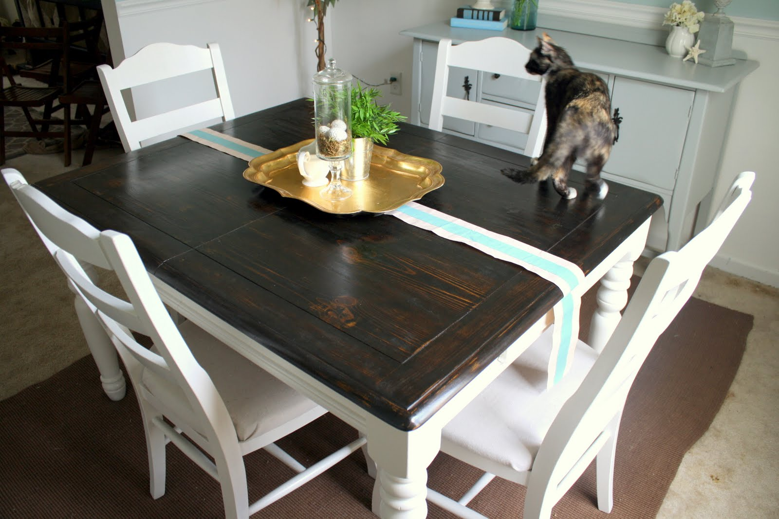 Refinishing The Dining Room Table Shannon Claire