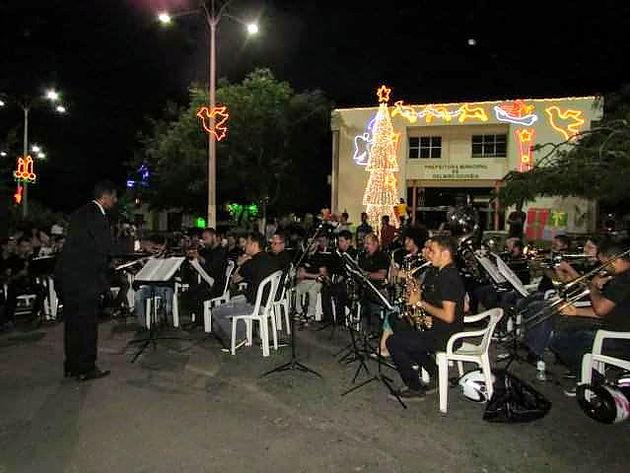 Com um belíssimo repertório, orquestra Tenente José Nicácio encerra programação natalina em Delmiro Gouveia