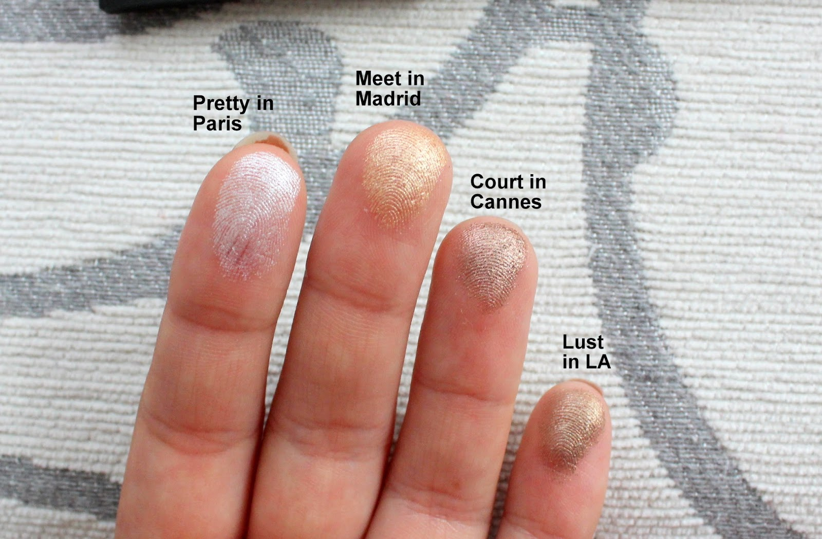 Swatches and review of sleek eyeshadow