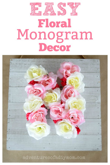 DIY Floral monogram decor