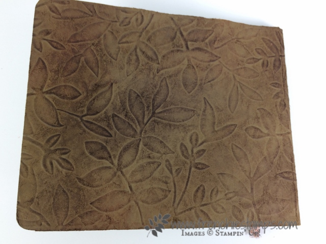 DIY Paper Leather, Faux Leather, Stampin'Up!, Frenchie Stamps,