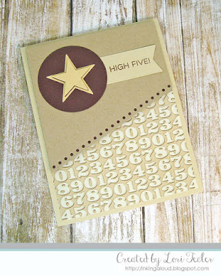 High Five card-designed by Lori Tecler/Inking Aloud-stamps and dies from My Favorite Things