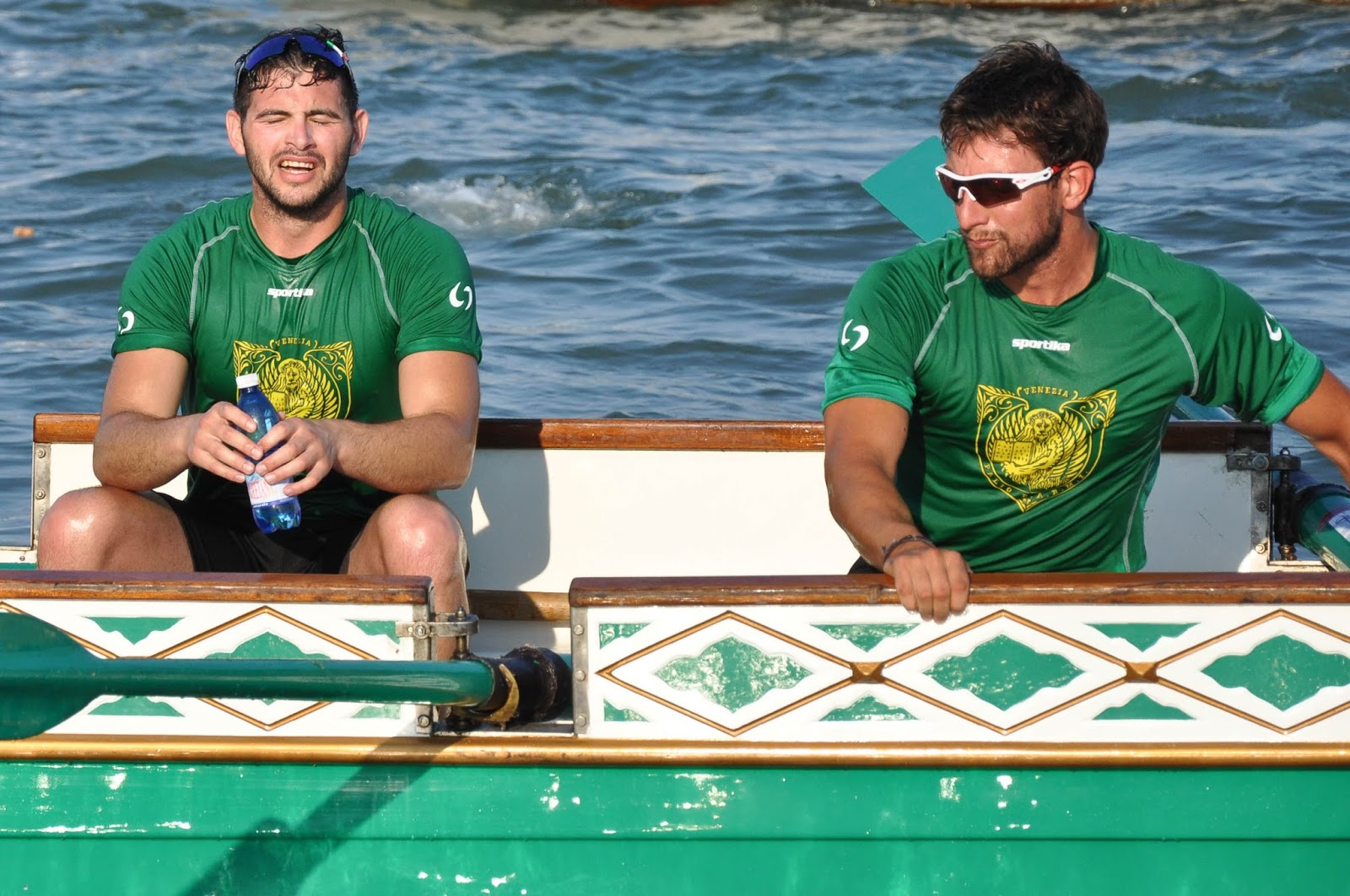 A close-up of the winning team, Regatta of the Ancient Maritime Republics, Venice, Italy