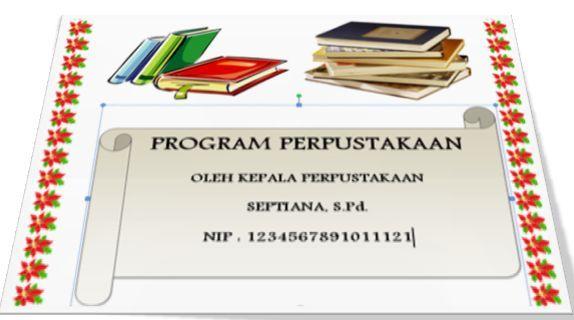 gambar cover program kerja perpustakaan sekolah