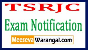 TSRJC 2017 Exam Notification