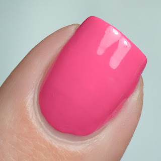 bright pink nail polish