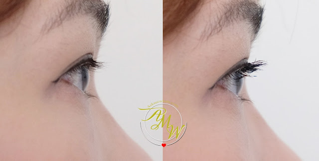 before and after photo of Benefit Bad Gal Bang Mascara Review