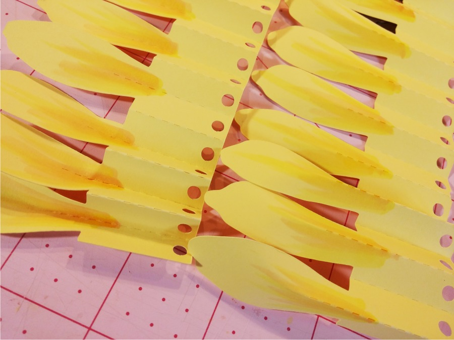 Sunflower Tutorial for 3D Sunflower Rosettes  - myscrapchick