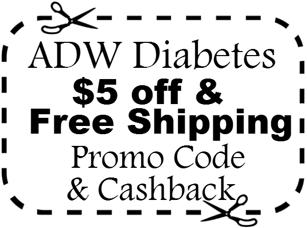 ADW Diabetes Coupon $5 off & Free shipping ADWDiabetes.com Promo Code & Cashback