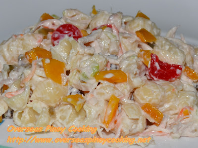 Chicken Macaroni Salad with Dried Mango