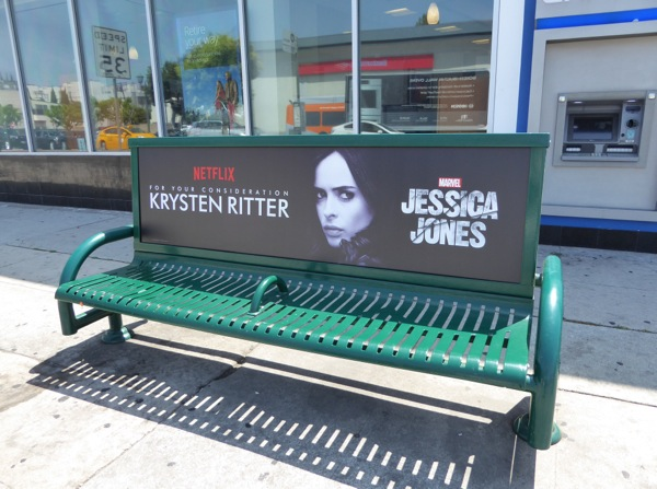 Krysten Ritter Jessica Jones 2016 Emmy FYC bench ad