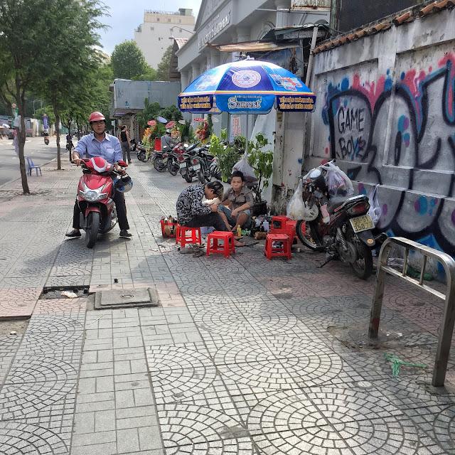 ulice saigonu, dovolená vietnam,