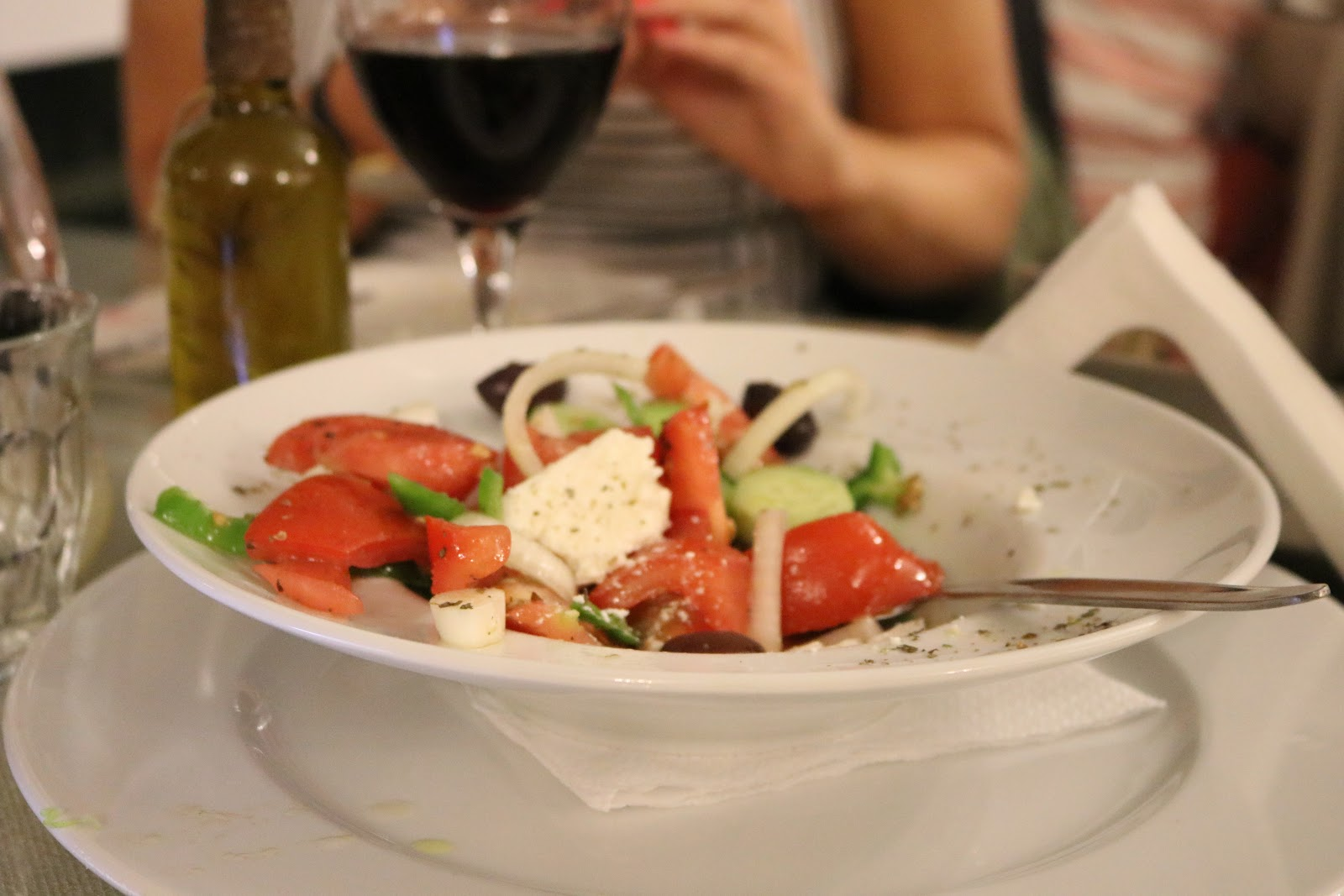 Feta salad, Lorraine's Magic Hill, Kefalonia