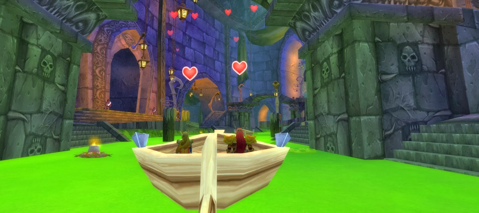 Ahh! Nothing is more romantic than a gondola ride through a sewer.