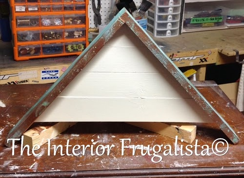 Adding a gable roof to Door Repurposed Into A Flower Planter