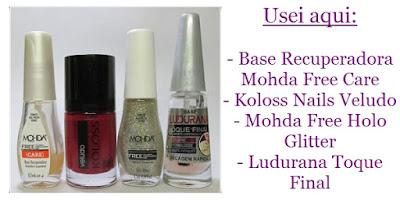 Esmalte Koloss Veludo e Mohda Holo Glitter