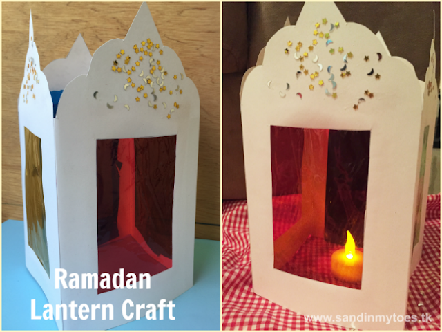 Cute and colorful lantern craft kids can make for Ramadan or Eid!
