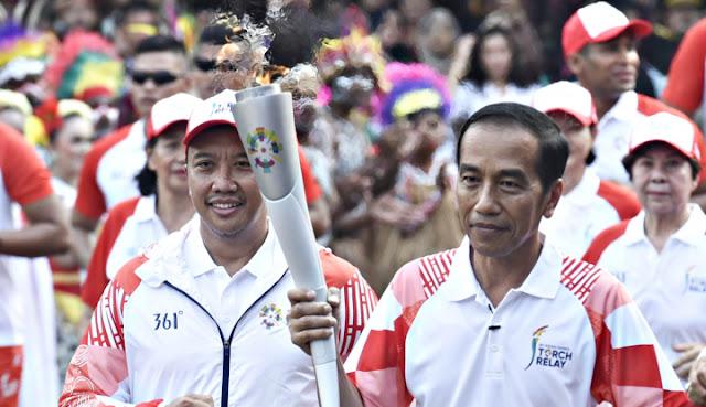 PDIP Tak Persoalkan Obor Asian Games Padam di Tangan Jokowi, yang Penting GBK Bagus