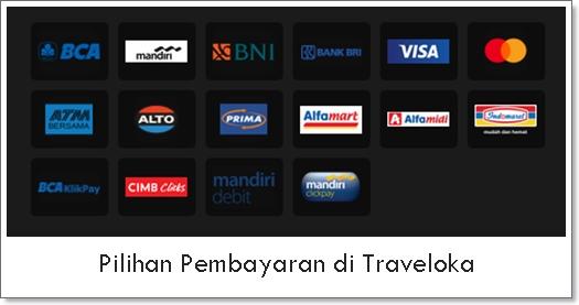 Pilihan pembayaran di Traveloka