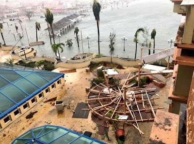 First pictures from Hurricane Irma show destruction of record-breaking storm