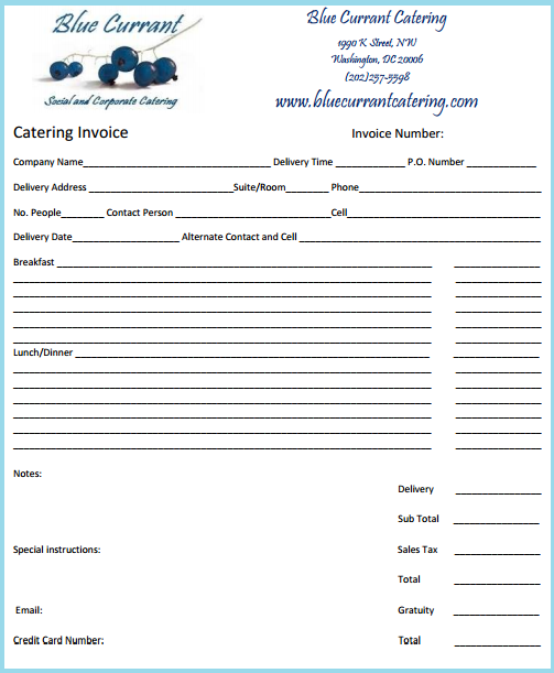 Download Invoice Template Catering Rabitahnet - Free catering invoice template