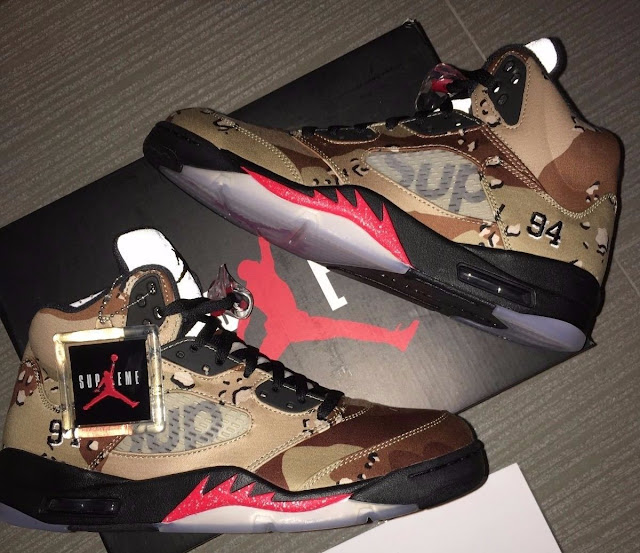 new product a633f 28910 ... mens fashion footwear on carousell e1b30 06ea6  best price air jordan 5  retro x supreme 0d6a0 3209f