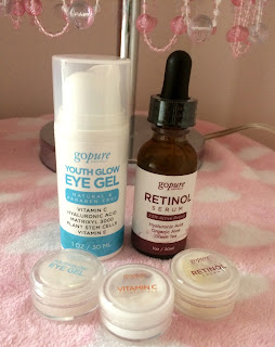 gopure Naturals Retinol Serum and Youth Glow Eye Gel from Cleopatra's Choice