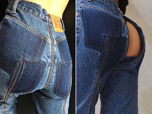 Must See! These New Designer Jeans Unzips from the Back to Front to Expose Your Whole Rear! The Cost: $1,800!