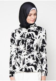 Baju Batik Kerja Modern Elegan