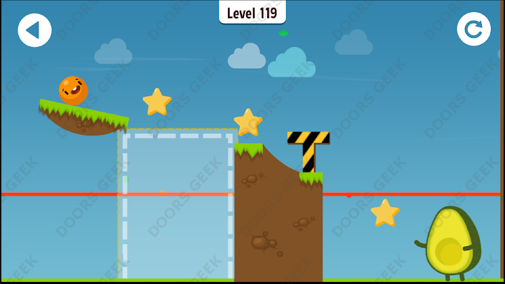 Where's My Avocado? Level 119 Solution, Cheats, Walkthrough, 3 Stars for Android, iPhone, iPad and iPod