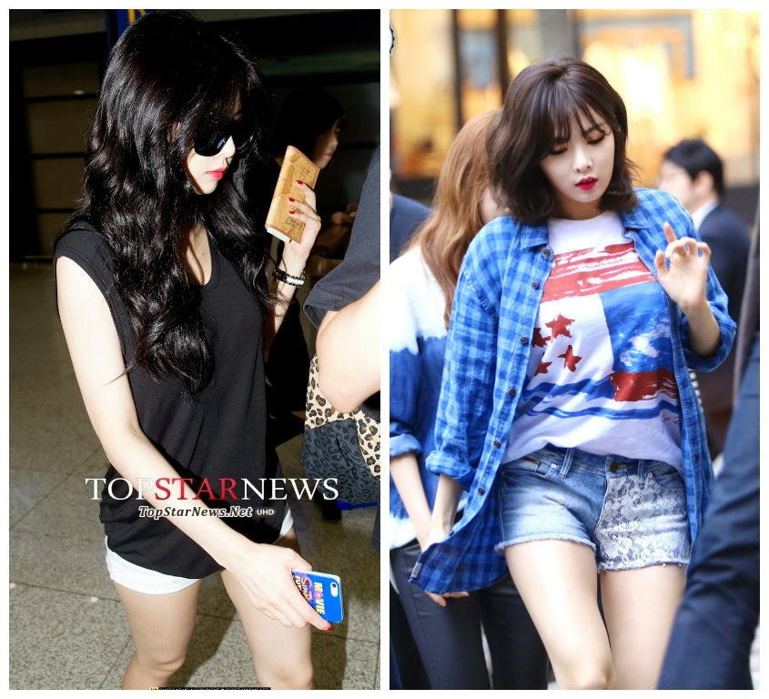 Off Stage 4minute S Hyuna Airport Fashion In 2014 The